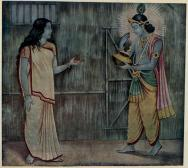Draupadi_satisifies_Krishna_with_one_pinch_of_Rice